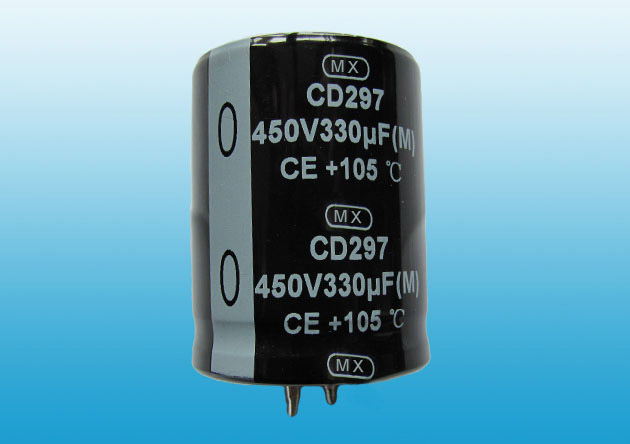 CD297 Snap in aluminum electrolytic capacitor